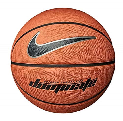 Nike-Dominate-8P-Basket-Ball-Mixte-Adulte-847-AmberBlackMetallic-Plati-Taille-7-0
