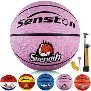 Senston-Ballon-de-Basket-Ball-Basketball-Enfant-Caoutchouc-Doux-et-Bouncy-Basketball-Extrieur-et-intrieur-Taille-5-0