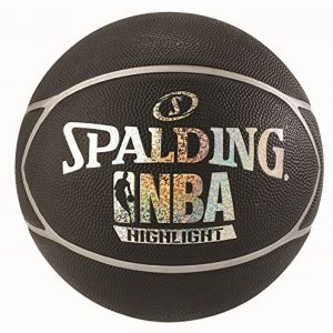 Spalding-NBA-Highlight-Ballon-de-Basket-Mixte-Adulte-NoirArgent-7-0