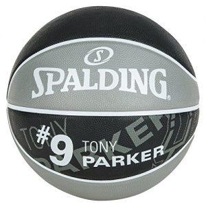Spalding-Nba-Player-Tony-Parker-Sz7-83-380Z-ballon-de-basket-pour-Homme-couleur-Gris-Noir-taille-7-0
