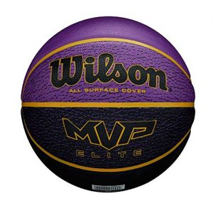 WILSON-MVP-Elite-BSKT-295-PRBL-Ballon-de-Basket-Mens-PurpleBlack-Official-0