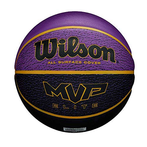 WILSON-MVP-Elite-BSKT-295-PRBL-Ballon-de-Basket-Mens-PurpleBlack-Official-0