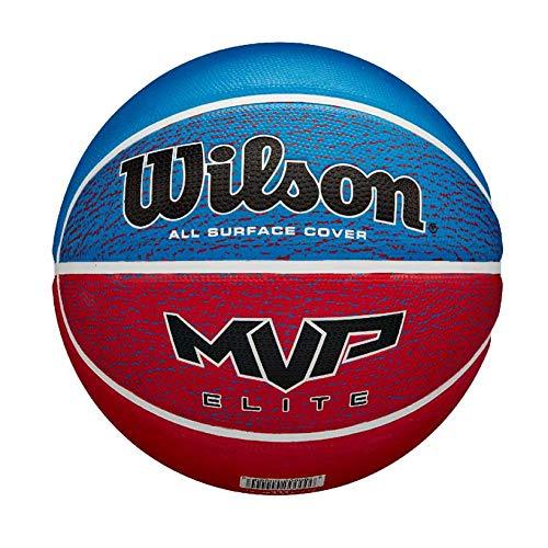 WILSON-MVP-Elite-Ballon-de-Basket-Mens-RedWhiteBlue-Official-0