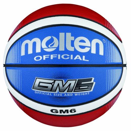 Molten-BGMX6-C-Ballon-de-basket-Rougeblancbleu-Taille-6-0