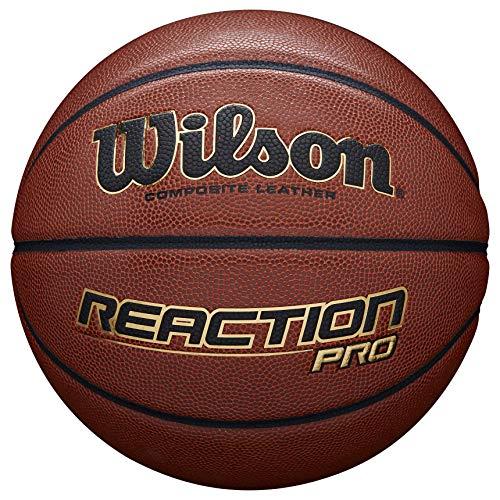Wilson-Ballon-de-Basketball-Reaction-Pro-Orange-Taille-7-Similicuir-intrieur-et-extrieur-WTB10137XB07-0