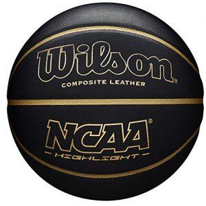 WilsonBallon-de-Basketball-NCAA-highlight-Noirdor-Simili-cuir-intrieur-et-extrieur-taille-7-WTB067519XB07-0