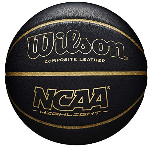 WilsonBallon-de-Basketball-NCAA-highlight-Noirdor-Simili-cuir-intrieur-et-extrieur-taille-7-WTB067519XB07-0