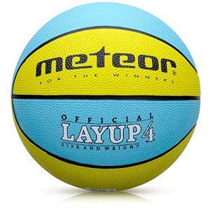 meteor-Ballon-de-Basket-Basketball-Extrieur-et-Intrieur-Surface-Rugueuse-Asphalte-Granuleuse-Mixte-Couleur-Enfant-Jeunesse-Doux-et-Bouncy-Taille-4-Idal-pour-FormationDoux-Basket-Ball-0