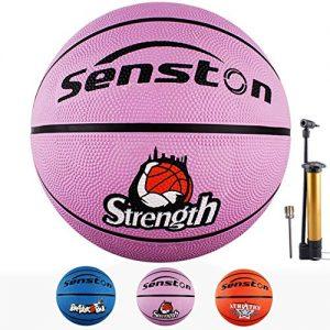 Senston-Ballon-de-Basket-Ball-Basketball-Taille-5-Enfant-Caoutchouc-Doux-et-Bouncy-Basketball-Extrieur-et-intrieur-0