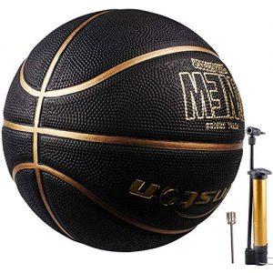 Senston-Ballon-de-Basket-Taille-7-avec-Pompe-Enfants-Jeu-de-Basket-Ball-Jeunesse-Basketball-de-Rue-IntrieurExtrieur-0