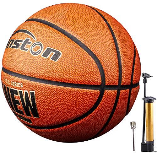 Senston-Ballon-de-Basket-en-Cuir-Composite-PU-Taille-7-pour-Les-Ballons-de-Basket-Ball-Dbutants-Adultes-avec-Pompe-0